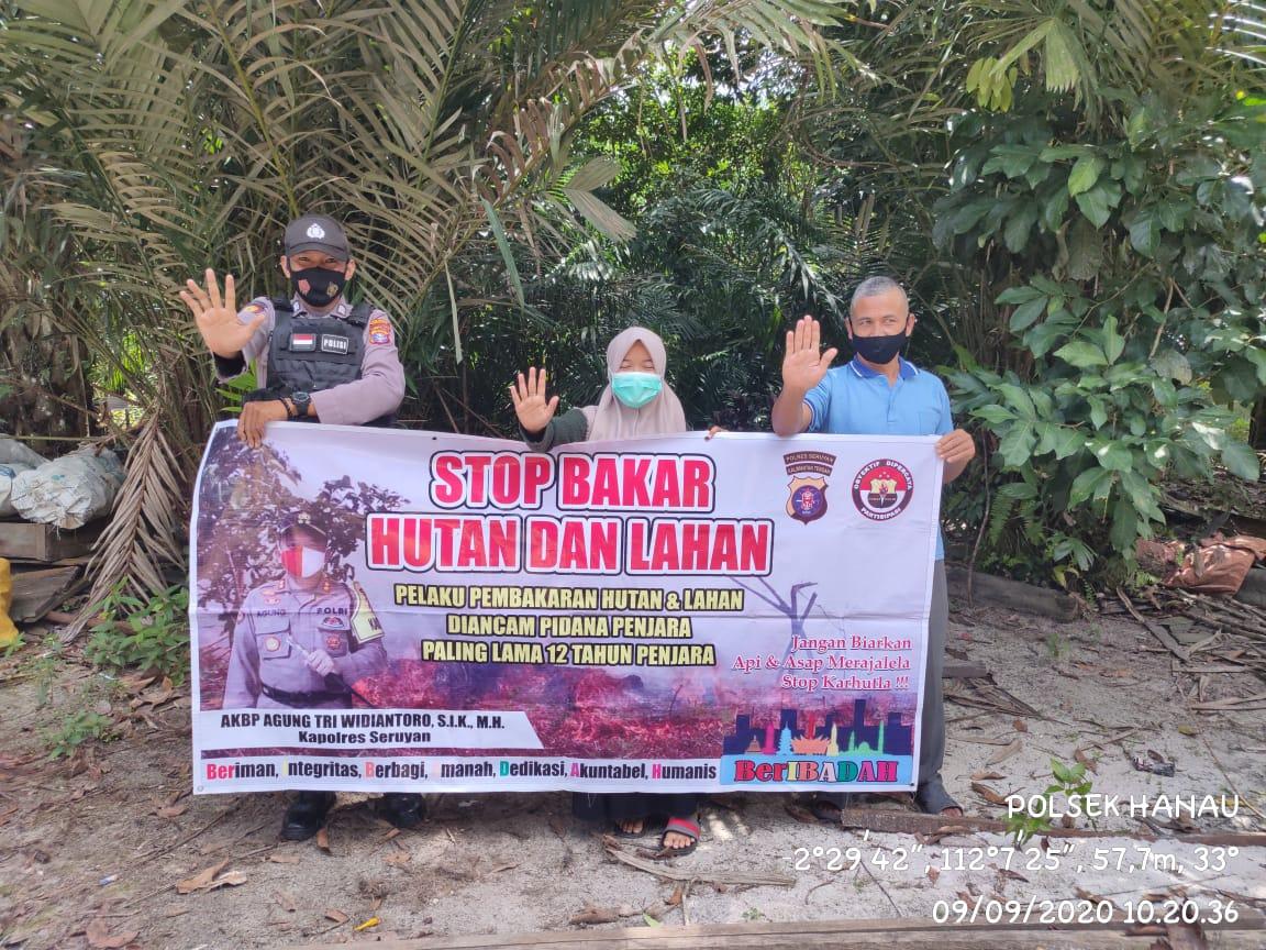Cegah Karhutla, Polsek Hanau Gelar Sosialisasi di Desa Pembuang Hulu II