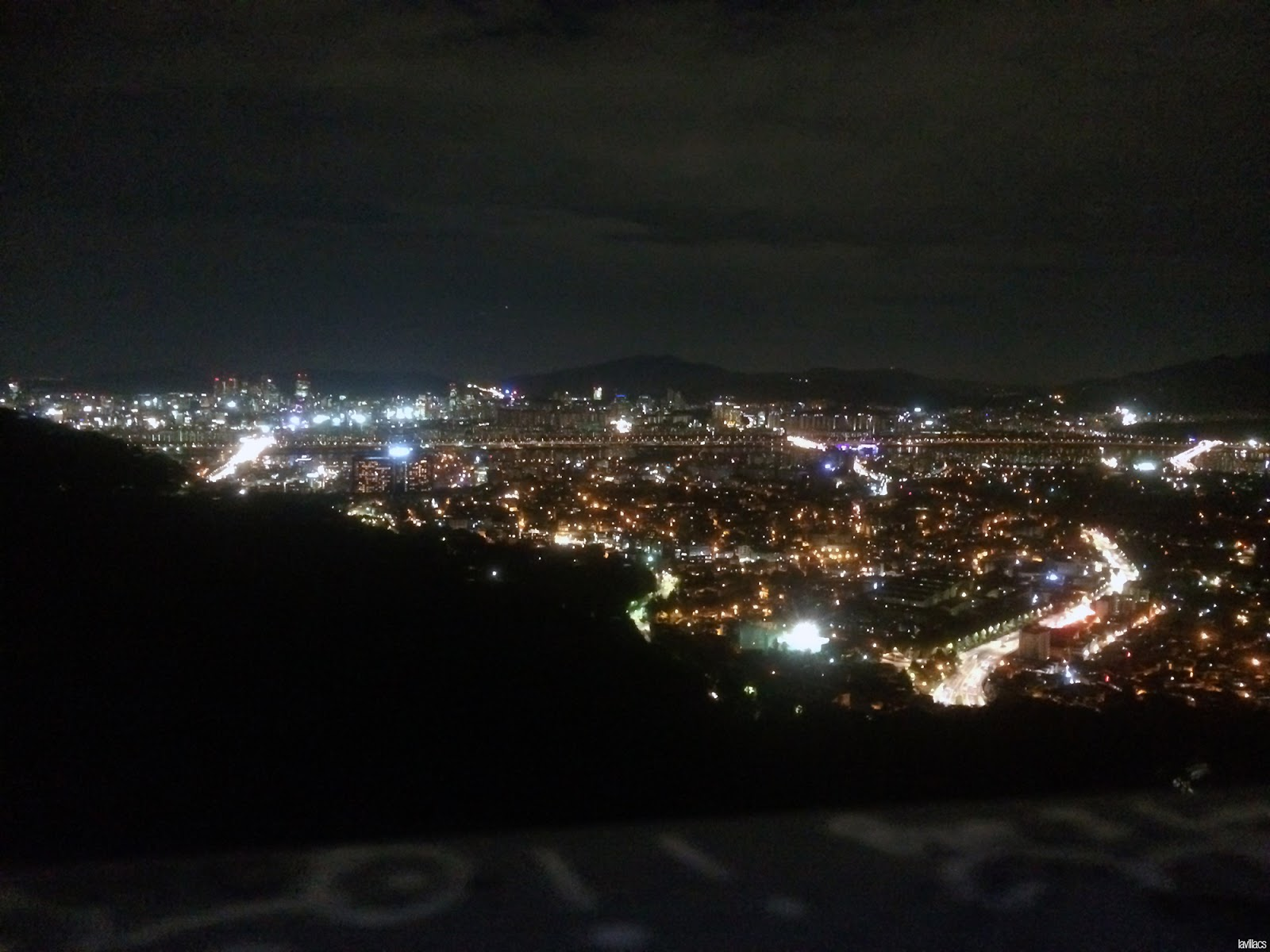 Seoul, Korea - Summer Study Abroad 2014 - View of Seoul from Namsan N Seoul Tower base at night