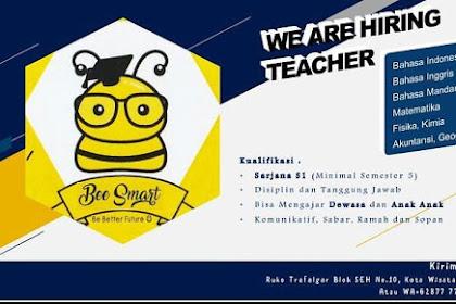 Info Lowongan Kerja Guru Bee Smart Cibubur