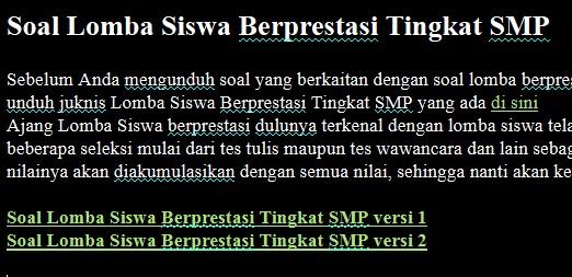 Download Soal Siswa Berprestasi Smp Dan Kunci Jawaban Kunci Jawaban Soal