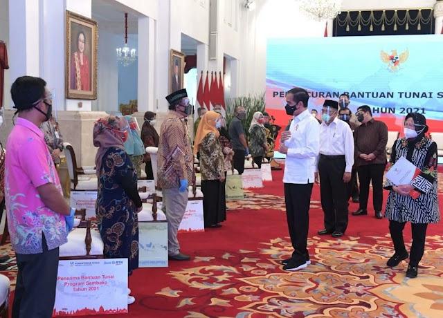 Presiden Jokowi Luncurkan Bansos 2021 se-Indonesia