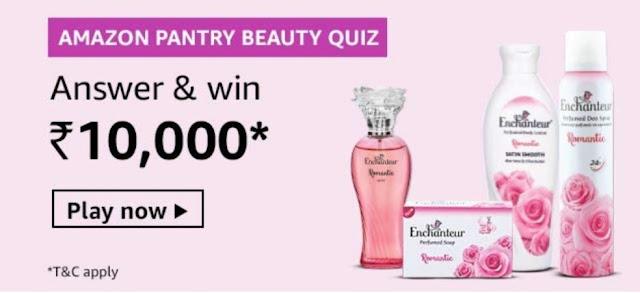 Amazon Pantry Beauty Quiz Answer