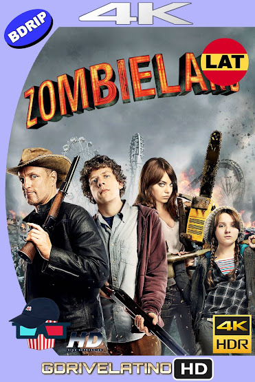Zombieland (2009) BDRip 4K HDR Latino-Ingles MKV