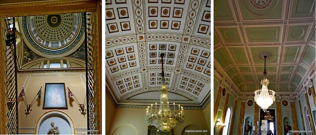 Detalhes da decoração dos salões do Town Hall de LIverpool