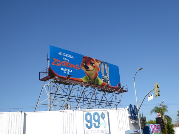 Zootopia film billboard