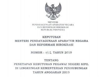 Pengumuman CPNS 2019 Kementerian Perhubungan