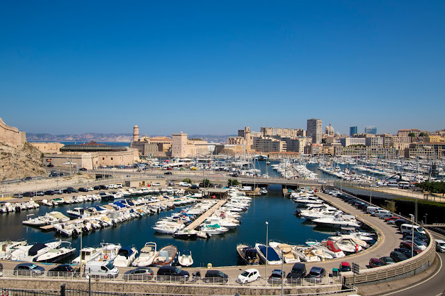 Vista sul porto-Marsiglia
