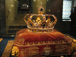 One of the many crowns on display