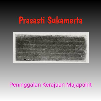 Prasasti Sukamerta Peninggalan Kerajaan Majapahit, Prasasti Sukamerta, Isi Prasasti Sukamerta