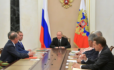 Vladimir Putin held a meeting with permanent members of the Security Council to discuss the situation in Syria and North Korea.