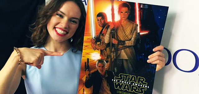 Daisy Ridely (Rey) şi primul poster oficial Star Wars The Force Awakens
