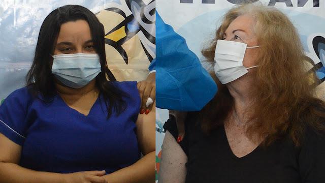 Vídeo: Goiana começa a aplicar as primeiras doses da vacina contra Covid-19