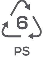 Simbol Daur Ulang Plastik 6 - Polystyrene or Styrofoam (PS)