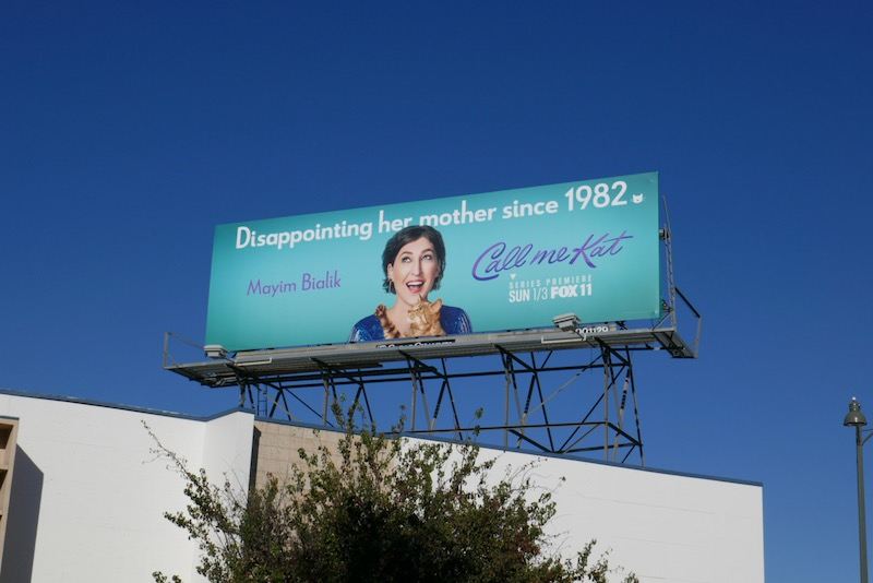 Call Me Kat series launch billboard
