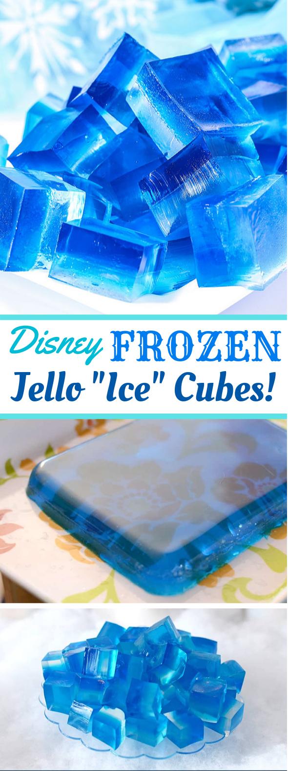 "DISNEY FROZEN JELLO ""ICE"" CUBES #desserts #simplerecipes"