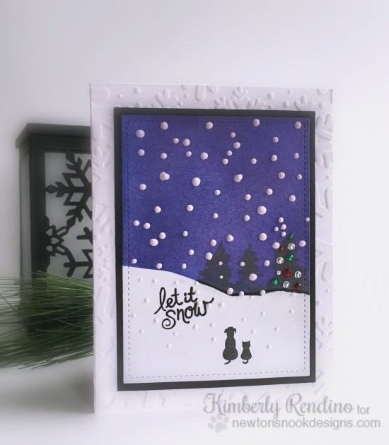 Let it Snow | #handmadecard | Newton's Nook Designs | Kimpletekreativity.blogspot.com