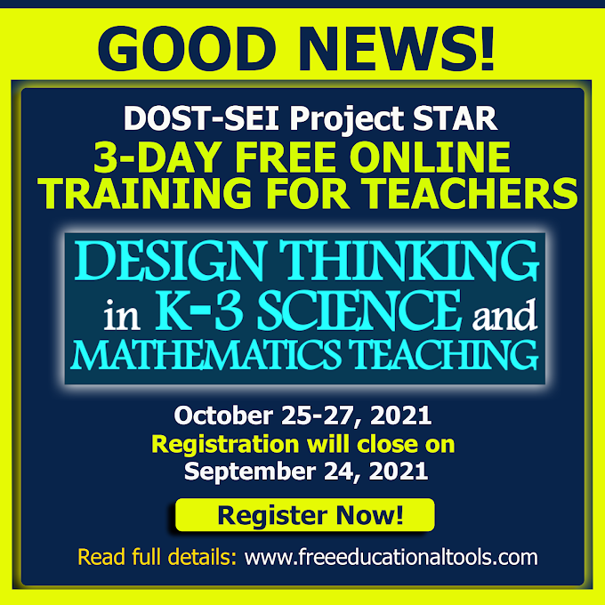 3-Day Online Training for Teachers on Design Thinking by DOST-SEI Project STAR | October 25-27 | REGISTER NOW!