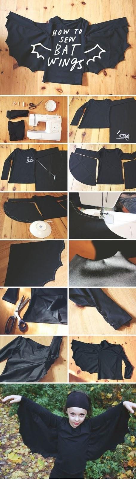 fotos de disfraz casero de murciélago