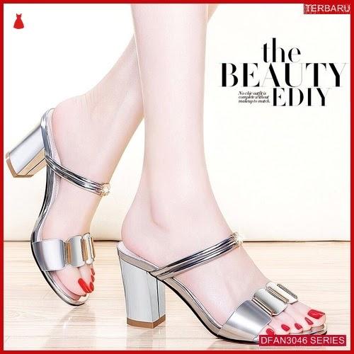 DFAN3046S166 Sepatu Ut03 Hak Tahu Wanita Sol Karet BMGShop