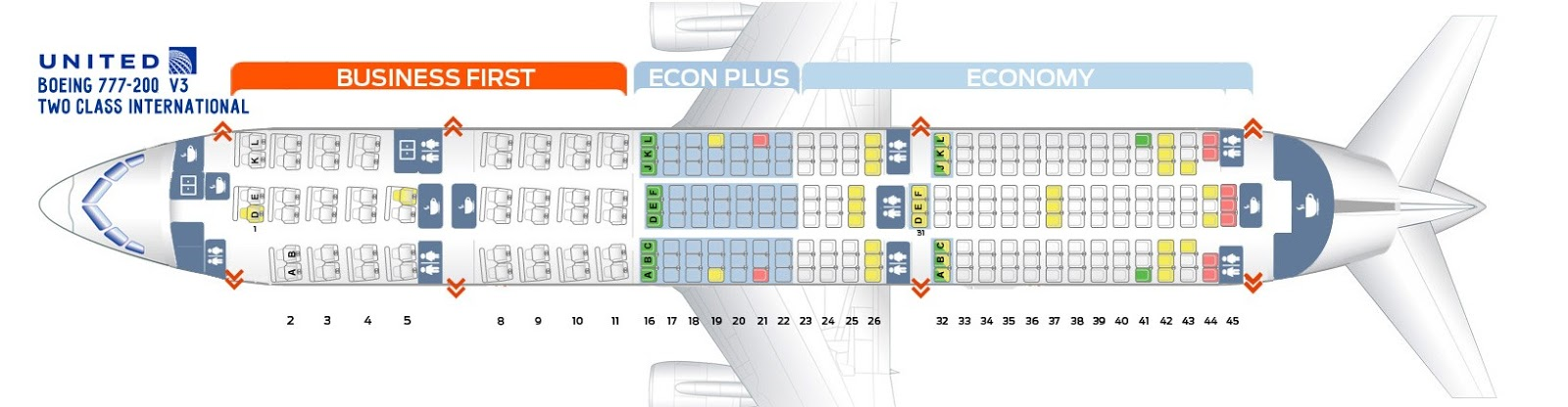 ✓ New United Boeing 777-200 Seat Map - Seat Inspiration  Seat Map on 777 seat plan, 777 seat diagram, delta a380 seating map, 777 seat profile, 777 seat configuration,
