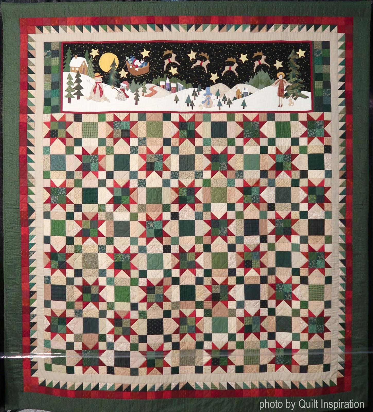 "Christmas Bird Poinsettia Block Cotton Fabric Songbird Maywood 29/""X44/""  Panel"