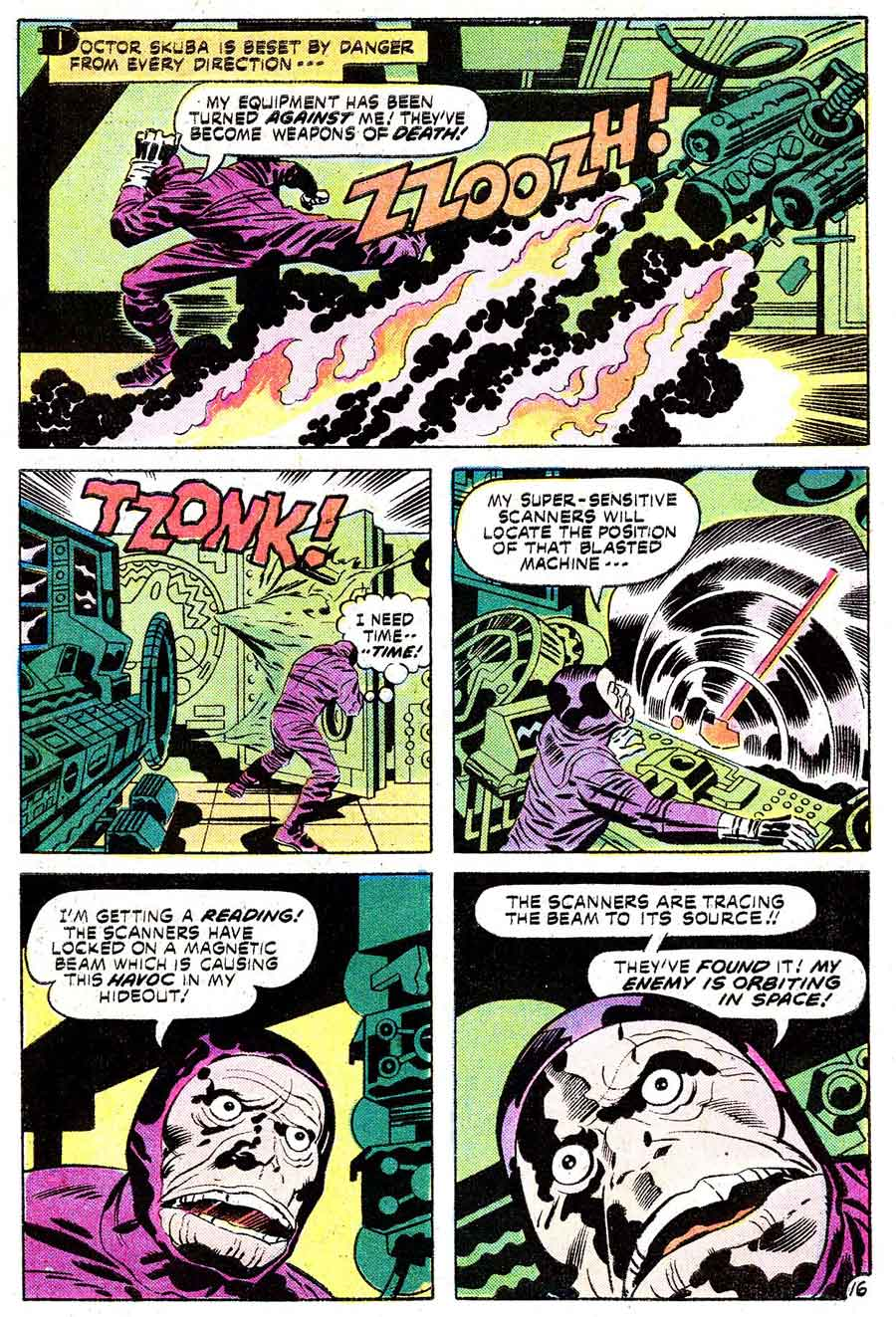 Omac v1 #8 dc bronze age comic book page art by Jack Kirby