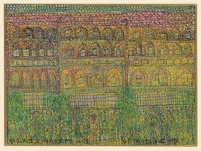 Φυσικός εκκλησιασμός, 1988, σινική μελάνη και κραγιόνια σε χαρτόνι