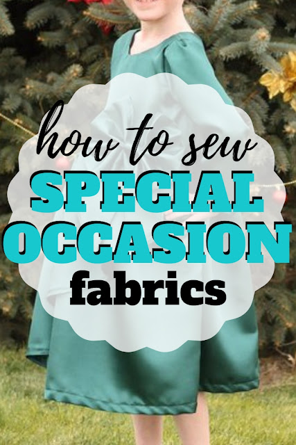 Tips on how to sew silky fabrics like satin, silk and velvet for dress and special occasions like Christmas, Easter and life celebrations.
