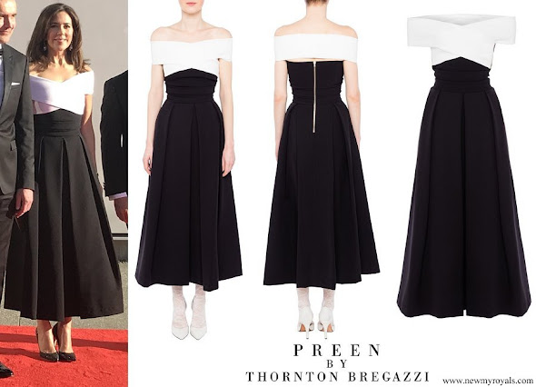 Crown Princess Mary wore Preen by Thornton Bregazzi Virginia Dress