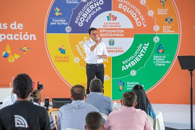 Junto a los magdalenenses, Gobernador Caicedo prioriza 'Proyectos del Cambio' que serán financiados con Regalías