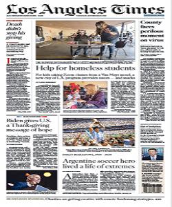 Los Angeles Times Magazine 26 November 2020 | Los Angeles News | Free PDF Download
