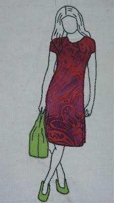 fashion free motion embroidery or raw edge applique