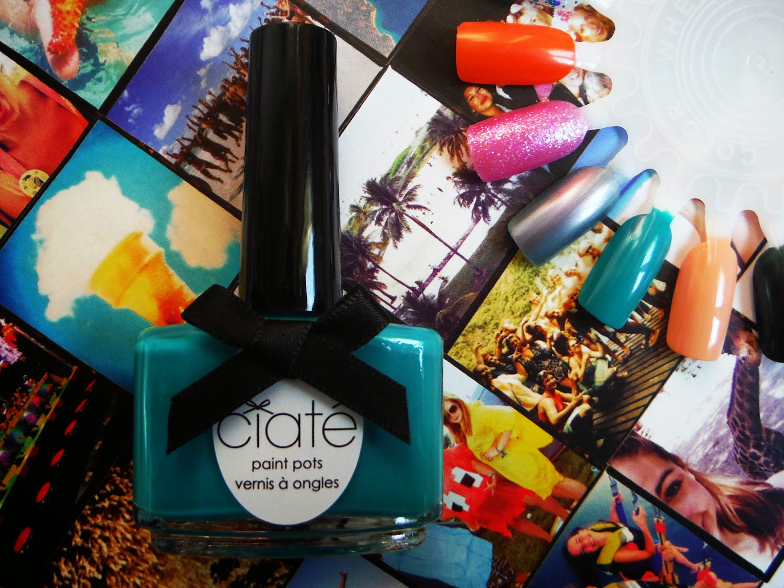 a bottle of green ciate nail varnish