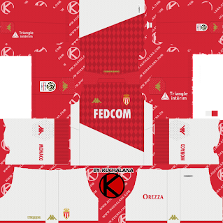 AS Monaco FC 2019/2020 Kit - Dream League Soccer Kits