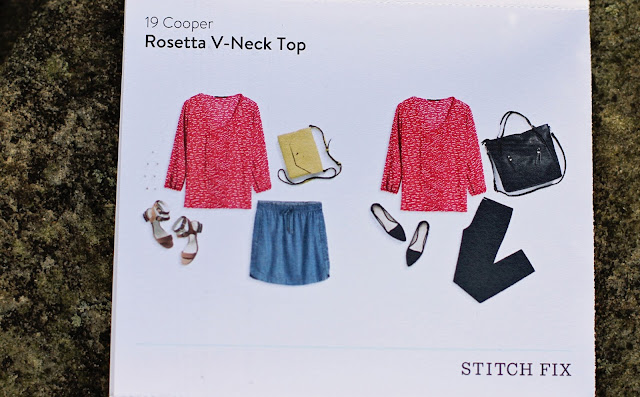 Stitch Fix 19 Cooper Rosetta V-Neck Top