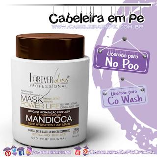 Máscara Hidratante de Mandioca Power Life - Forever Liss (No Poo)