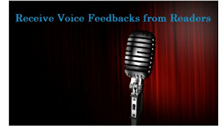 Voice comnents and feedback for blog reader