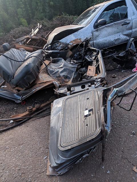 Grave acidente envolvendo três veículos na PR-466, entre Pitanga e Manoel Ribas