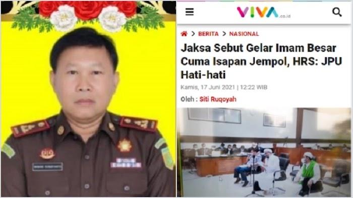 Jaksa Nanang yang Meninggal Pernah Sebut Gelar Imam Besar Ha6i6 Ri2ie q Isapan Jempol Belaka