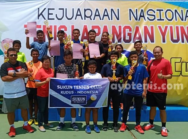 Sukun Tennis Club Kudus Borong Gelar Juara di Kejurnas Walikota Tegal Cup XII