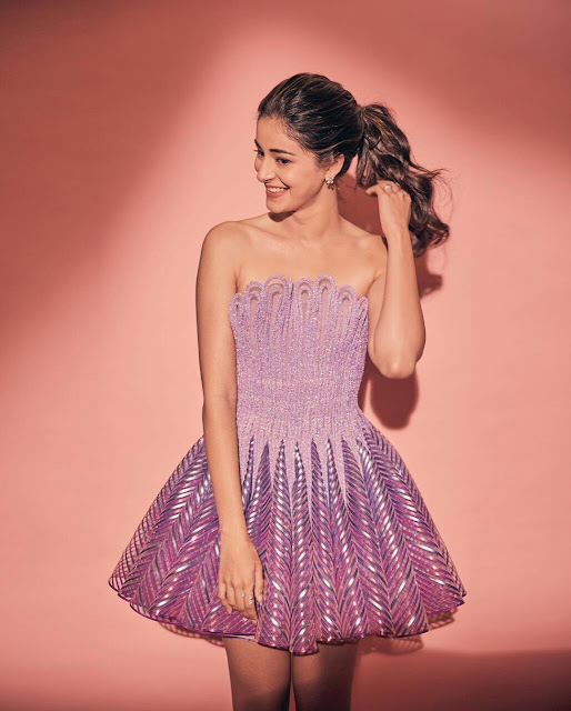 Ananya Pandey HD Wallpaper in Pink Dress