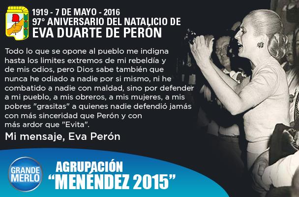 Flyer del Natalicio de Eva Perón