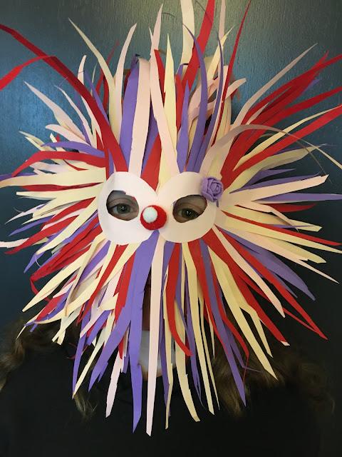 Vild papirmaske Maskeværksted Blikfang.com