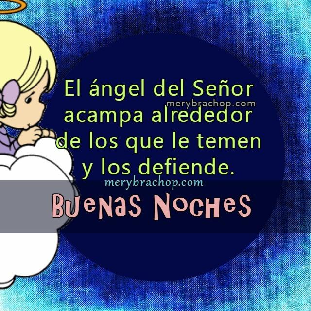 frases de buenas noches dormir  con el angel del Señor
