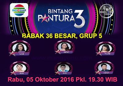 Bintang Pantura 3 babak 36 Besar, Grup 5, Tampil 5 Oktober 2016