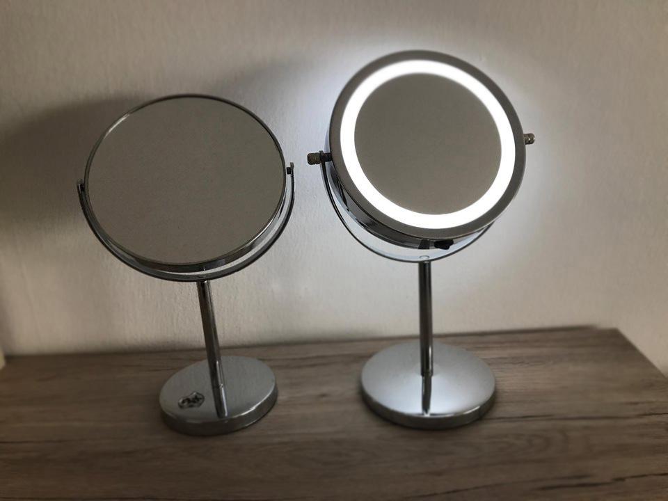 Lustro dwustronne podświetlane Smukee czy lustro klasyczne Delco?Porównanie luster z biedronki