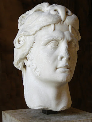 Portrait of the king of Pontus Mithridates VI as Heracles.  Marble, Roman imperial period (1st century). (Louvre)