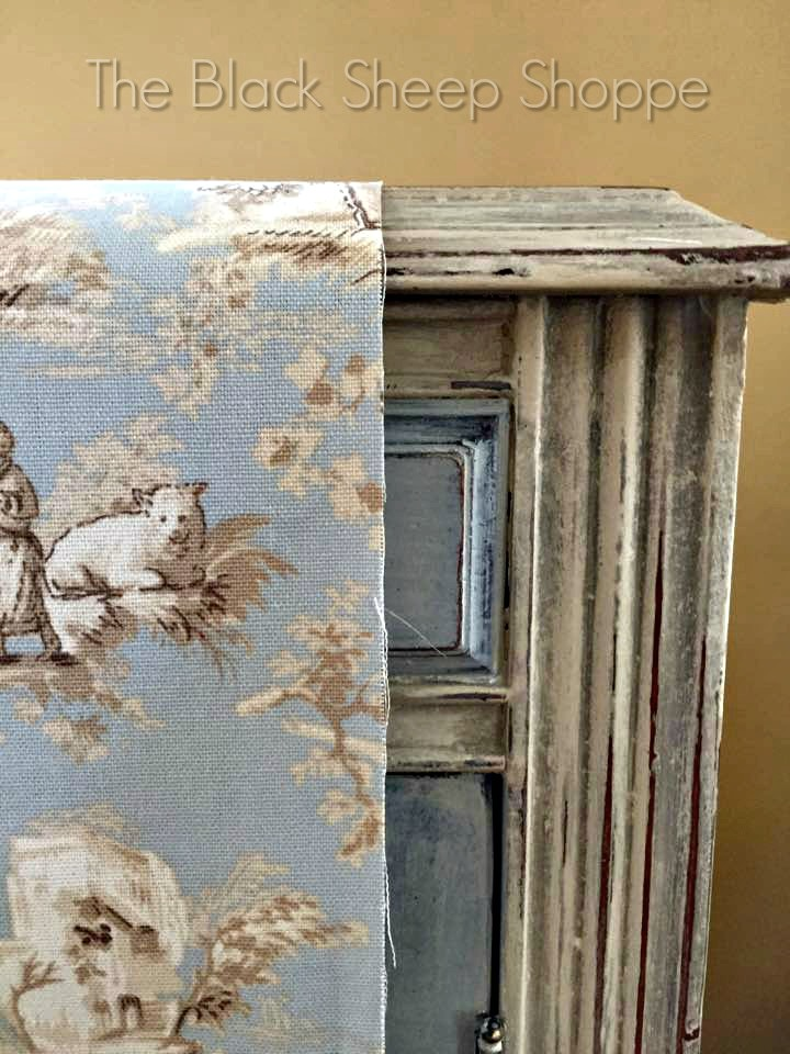 Coordinating fabric with painted furniture