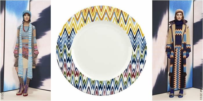zig zag decorative dining plates