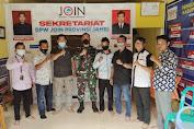 Jalin Silaturrahmi, Dandim 0416 Bute Sambangi Sekretariat Jurnalis Online Indonesia